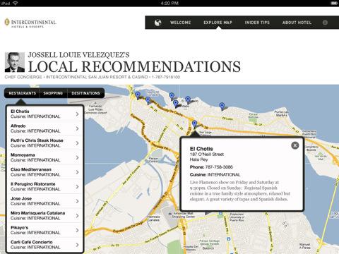 Concierge Insider Guides iPad app
