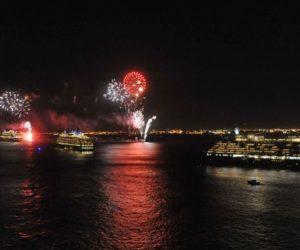 Cunard cruise ships New York Harbor