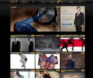 gilt luxury website