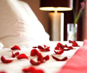 Valentines hotel room