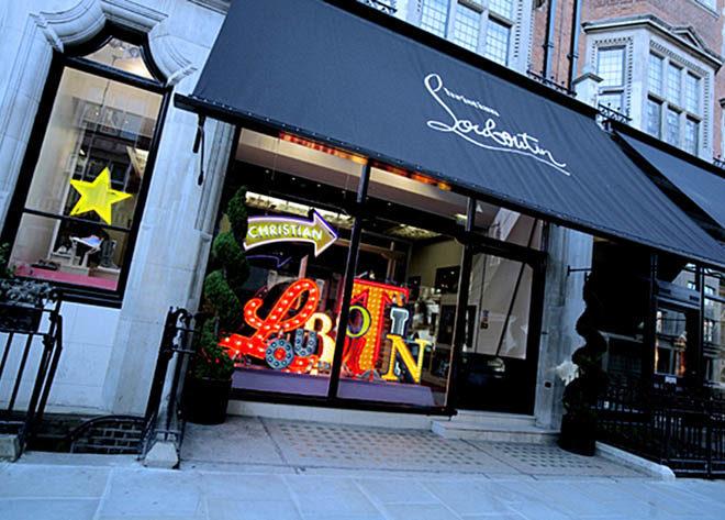 Louboutin London window display