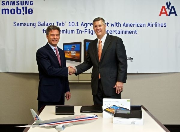 American Airlines Samsung Galaxy Tabs