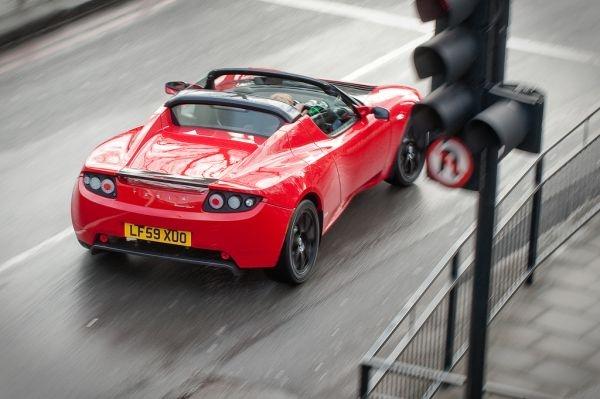 The Tesla Roadster in London