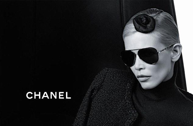Claudia Schiffer Chanel Eyewear Campaign