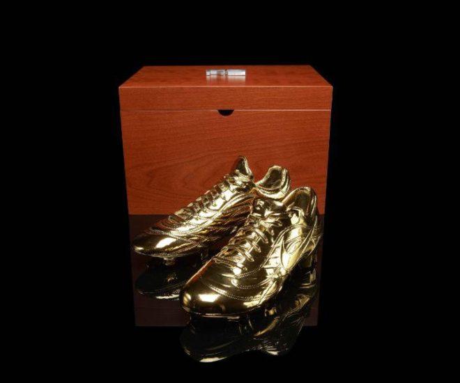Nike Ronaldo Golden Soccer Shoes