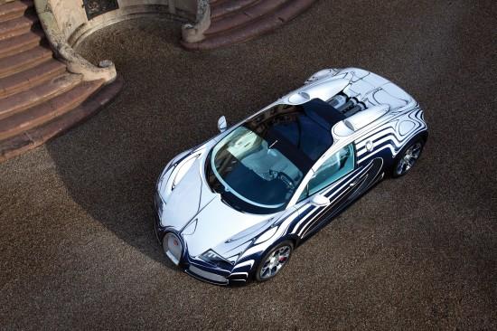 bugatti veyron grand sport l'or blanc photo