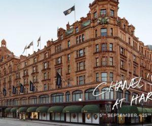 Chanel Harrods Brompton Road windows