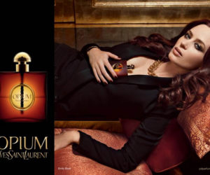 Emily Blunt Yves Saint Laurent Opium Campaign