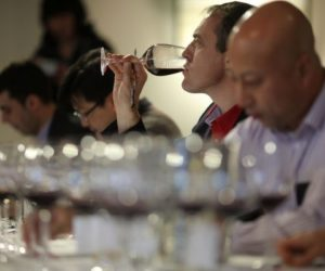 Wine tasting judge Nicolas Carre