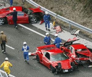 ferrari car crash