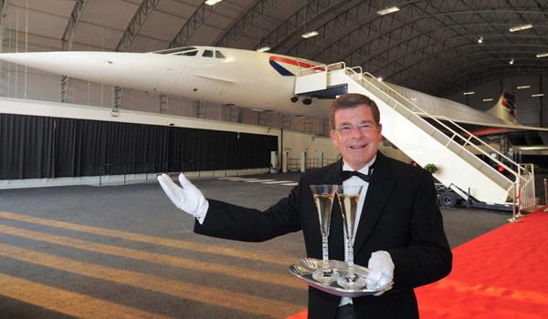 British Airways Concorde dinner