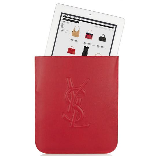 Yves Saint Laurent red iPad sleeve