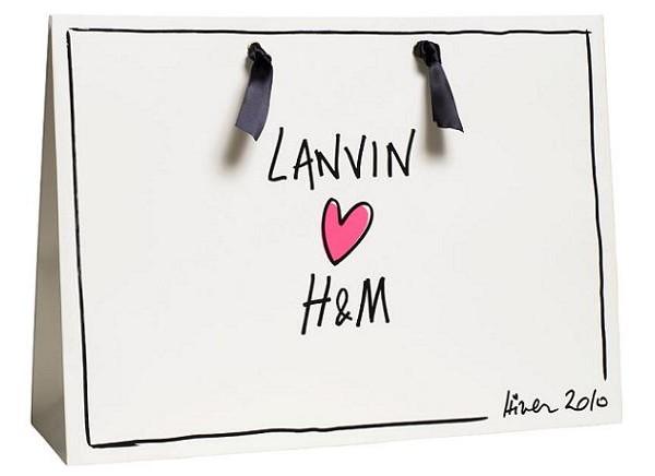 Lanvin For H&M shopping bag
