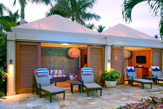 Missoni-designed cabanas