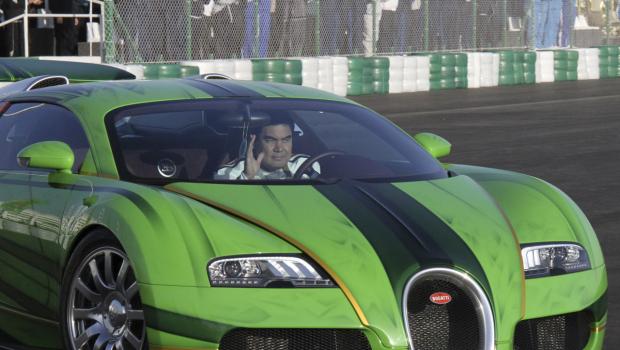 Turkmenistan president bugatti