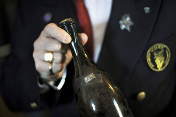 bottle of Vin Jaune