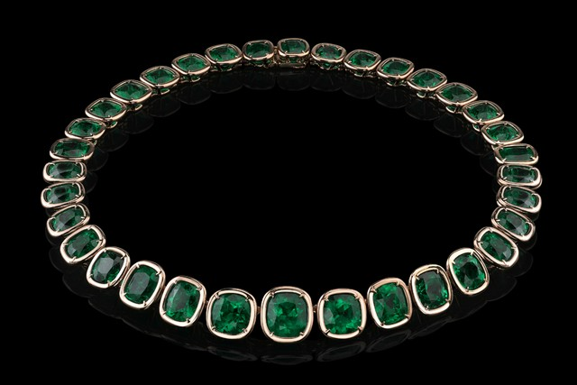 Angelina Jolie Exceptional Emerald Necklace