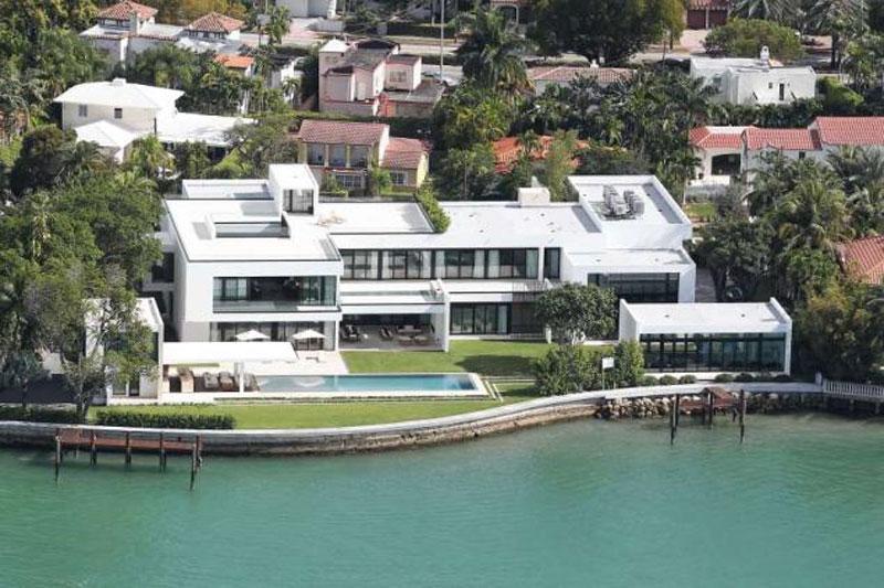 Alex Rodriguez's Miami Waterfront Home