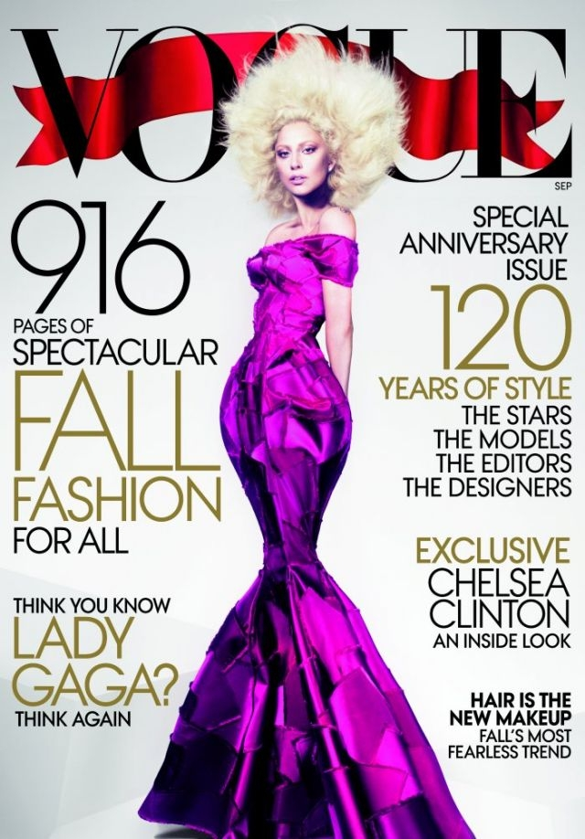 Lady Gaga Vogue September 2012 edition