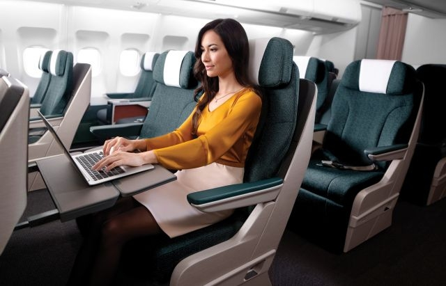Cathay Pacific regional Business Class look