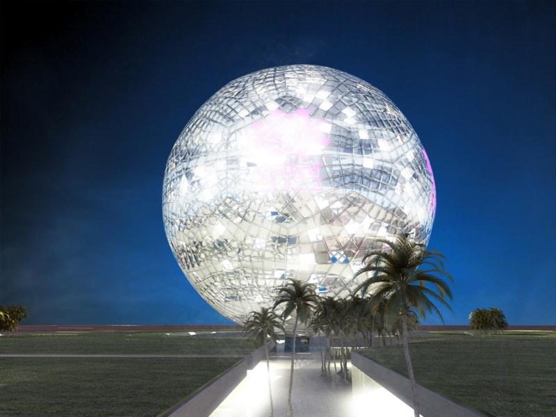 Huge Crystal Ball Qatar World Cup
