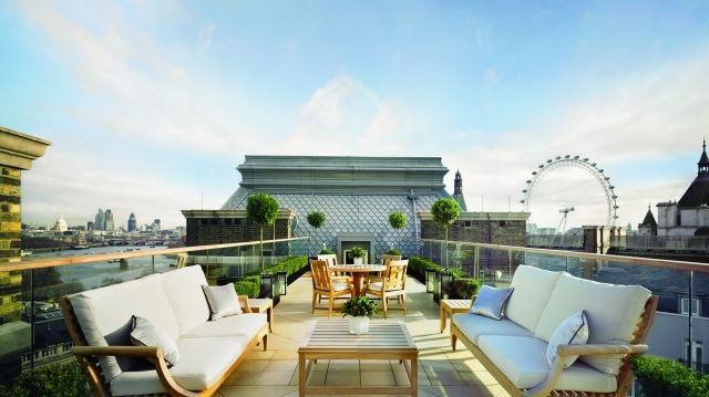 penthouse at the Corinthia Hotel in London