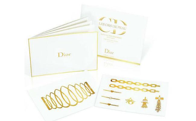 Dior golden temporary tattoos