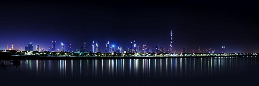 Dubai Skyline Night