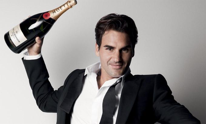 Roger Federer Moet and Chandon