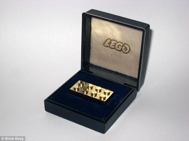 solid gold lego brick