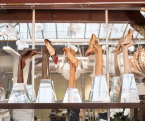 Louboutin nude shoes