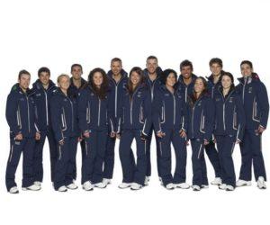 Italian athletes in their Giorgio Armani outfits