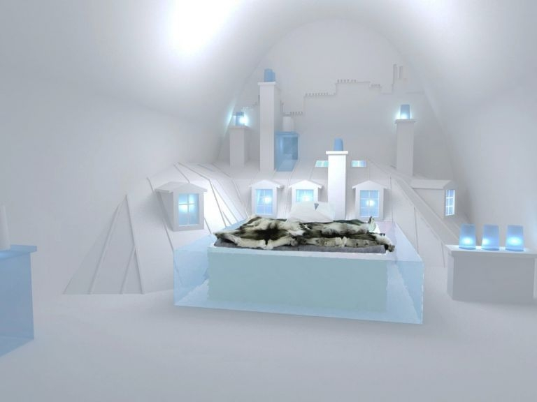 Up There suite Ice Hotel