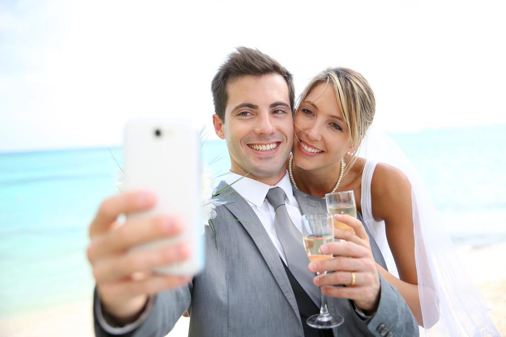 luxury wedding selfie
