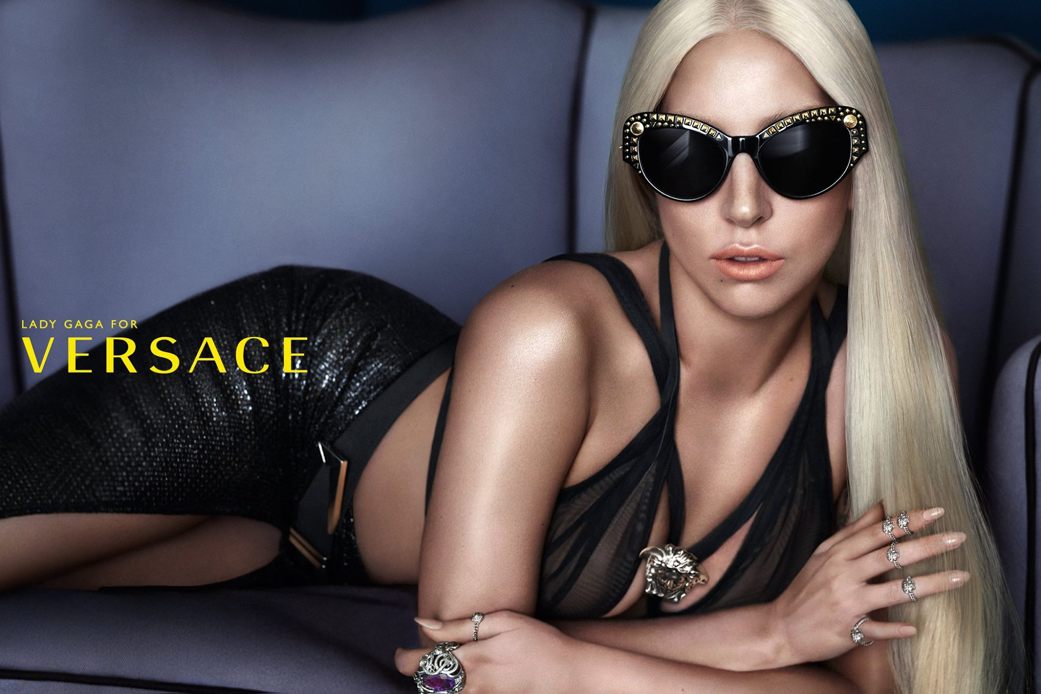 Lady Gaga Versace Eyewear campaign