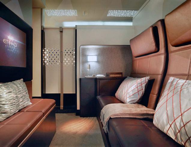 The Residence living area Etihad A380