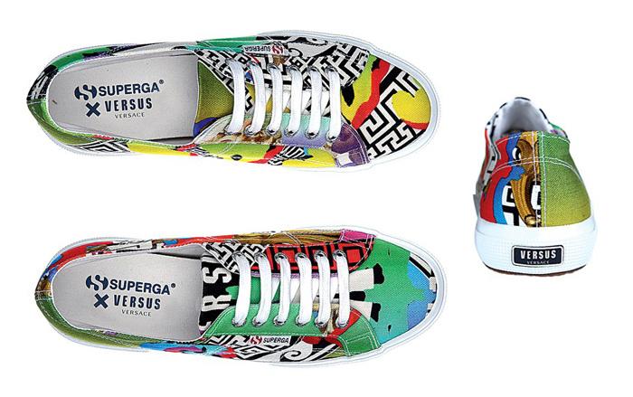 Superga Versus Versace shoes