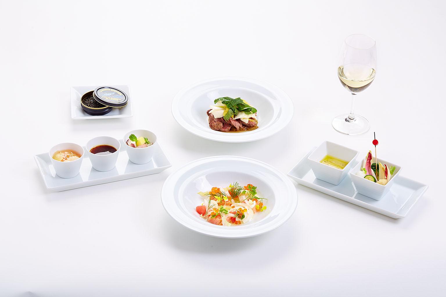 in-flight menu for Japan Airlines