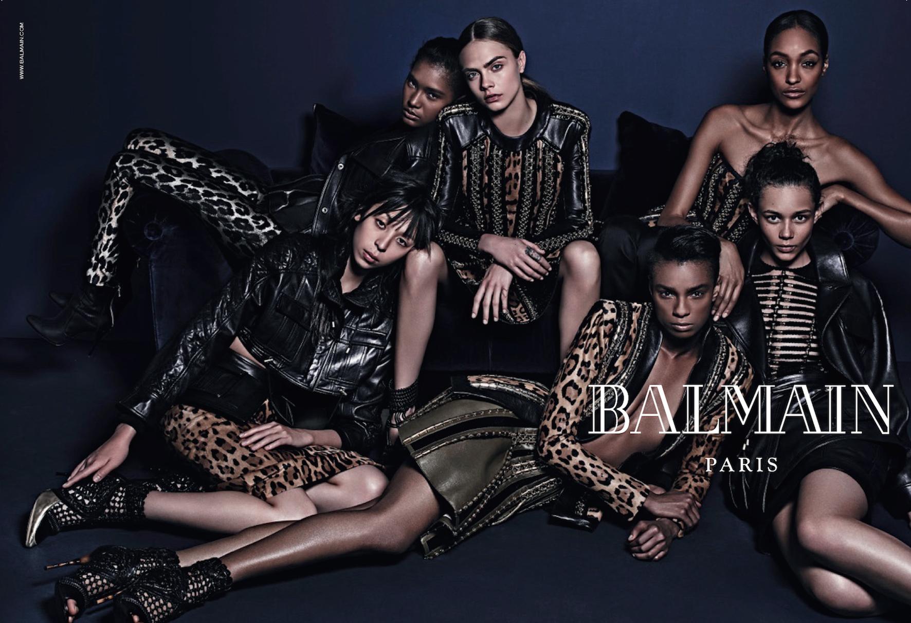 Balmain Fall 2014 ad campaign