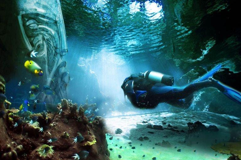 underwater theme park Dubai