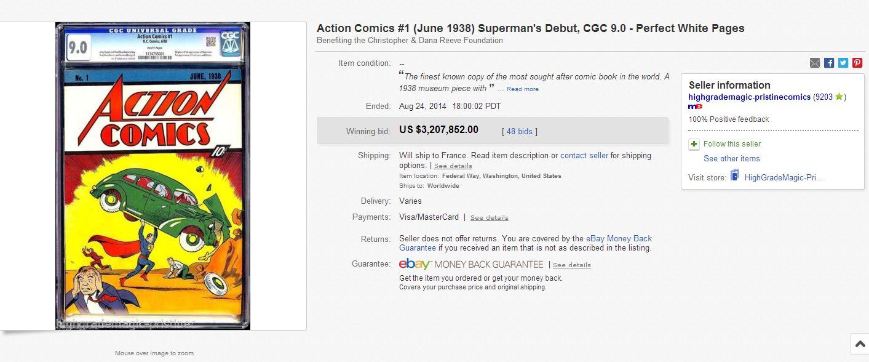 Action Comics Superman Debut