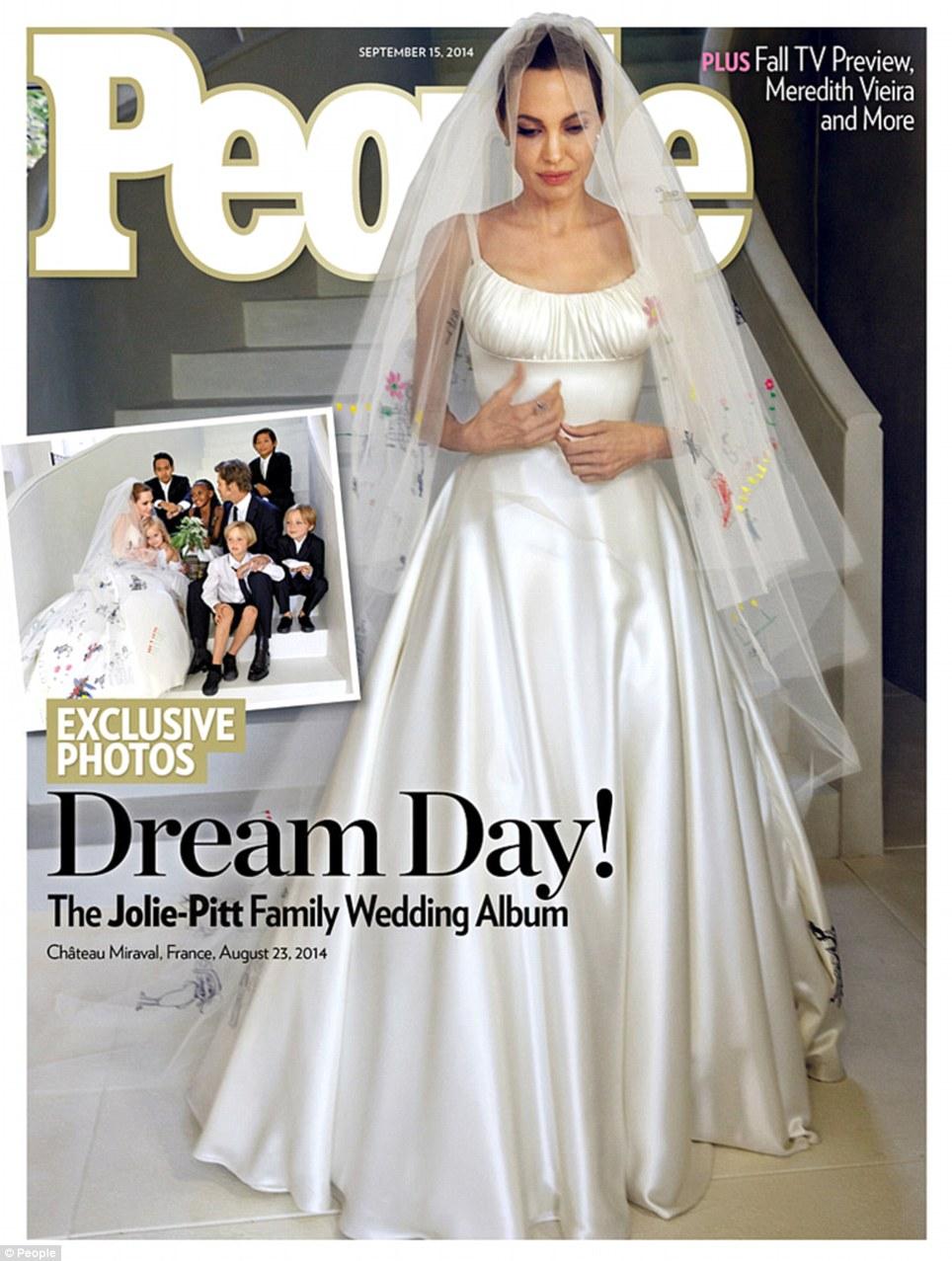 Angelina Jolie Wedding Dress people