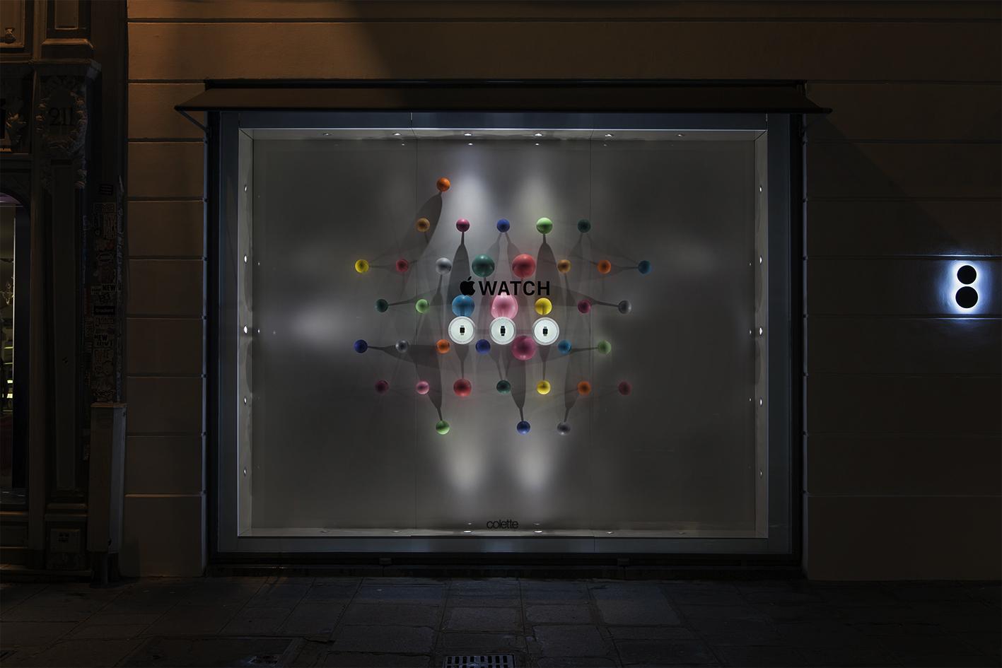 Apple Watch on display in Paris