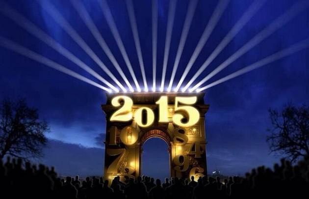Arc de triomphe New year eve 2015