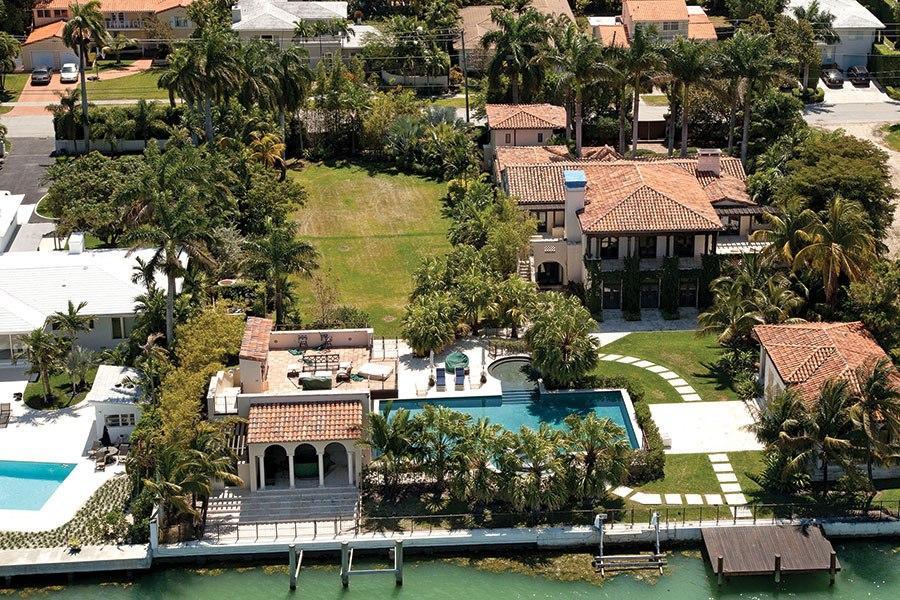 Matt Damon mansion Miami Beach