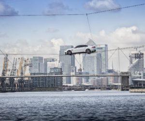Jaguar XF Across River Thames