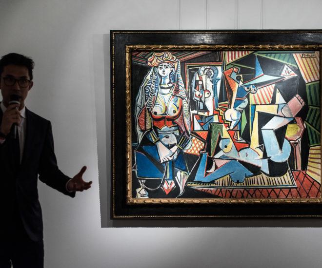 "Picasso painting titled ""Les Femmes d'Algers."