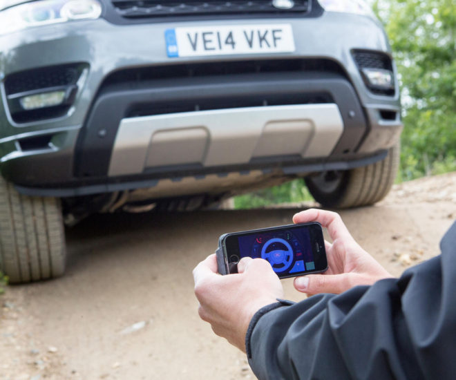 smartphone-controlled Range Rover Sport
