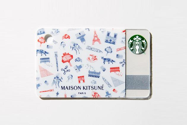 Maison Kitsune starbucks card