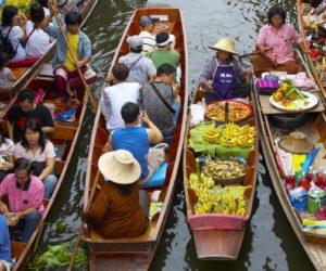 Thailand Bangkok floating market